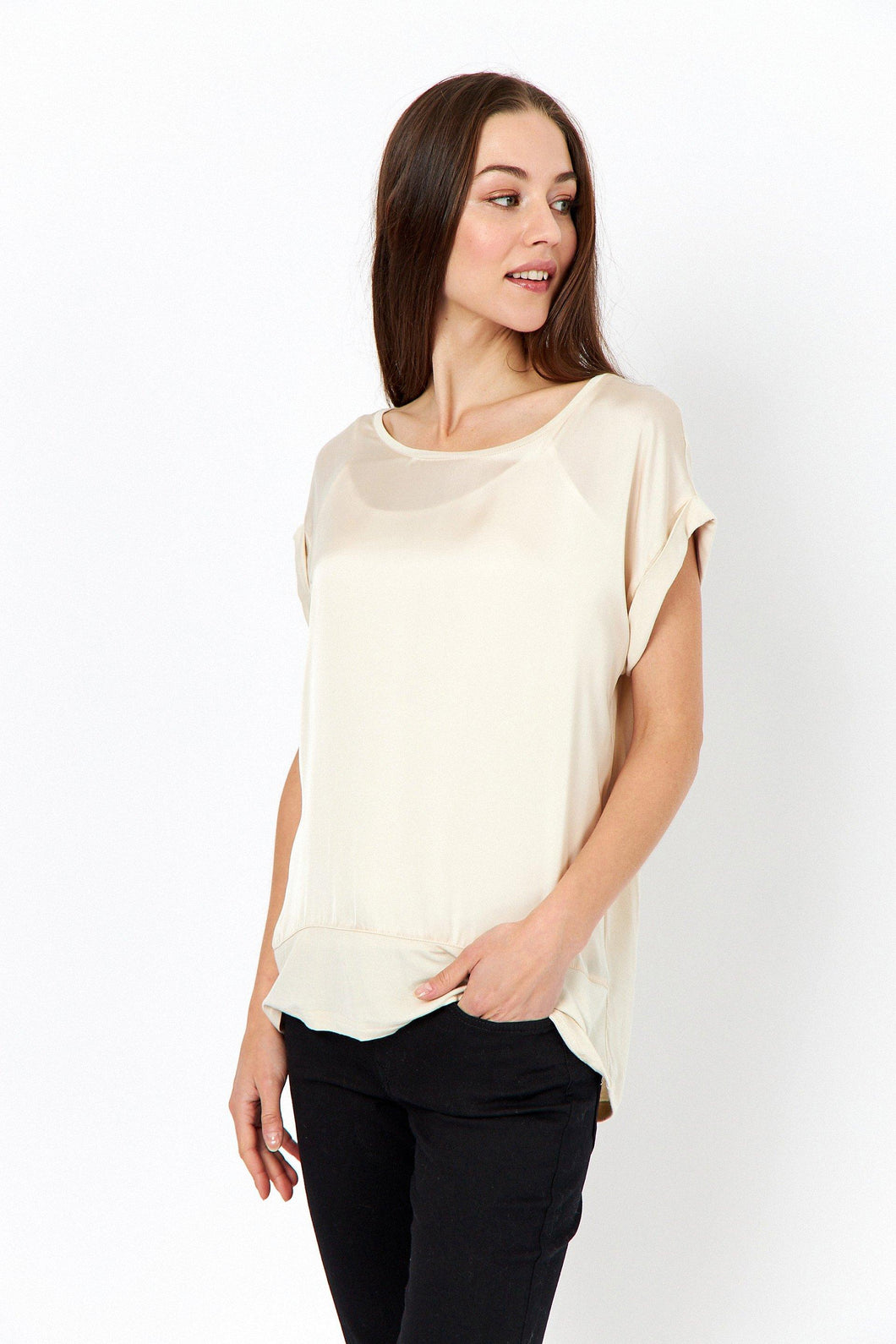 Thilde T-Shirt Champagne Top Soyaconcept
