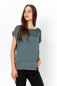 Thilde T-Shirt in Green Top Soyaconcept