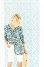 Load image into Gallery viewer, Trudy Blouse Santiago Print Blue - Renaissance Boutiques Ireland