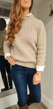Load image into Gallery viewer, Unisex Merino Wool Aran Knit in Parsnip - Renaissance Boutiques Ireland