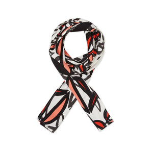 Viscose Scarf in Abstract Valient Poppy Accessories Masai