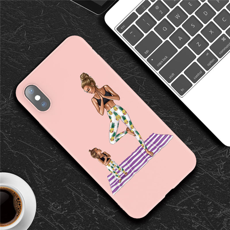 Yoga with Baby iPhone Case