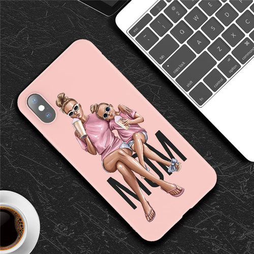 Cool Mom with Super Cool Daughter - iPhone Case
