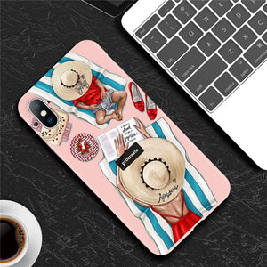 Mommy & Baby On beach - iPhone Case