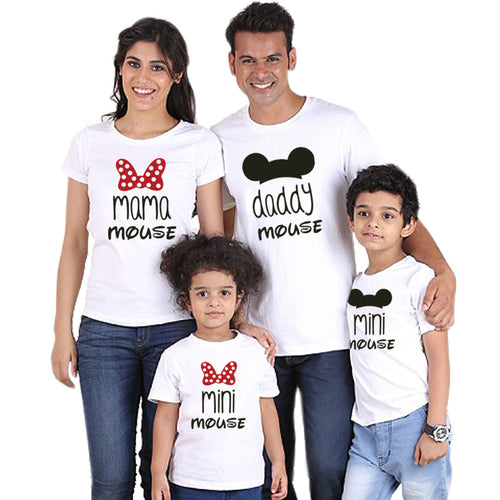 Mouse Cartoon Family Matching T-shirt