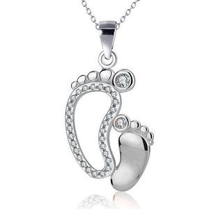 Mother & Baby Footprint Necklace