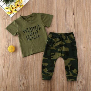Mama is My Bestie Camo Outfit