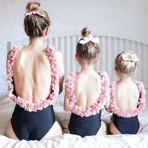 Mother & Daughter Floral Matching Swimwear