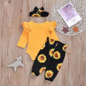 Baby girl Sunflower ourfit set