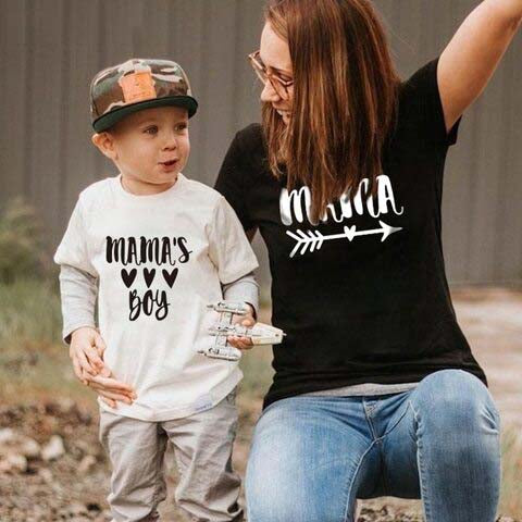 Mama & Mama's Boy Mother and Son Matching T-shirt