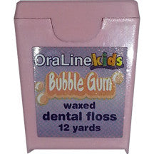 Bubblegum Flavored Nylon Waxed Dental Floss