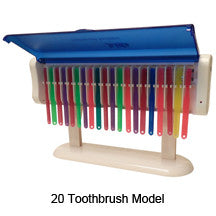 20 Toothbrush Capacity Ultraviolet Toothbrush Sanitizers, 1 Case Pack
