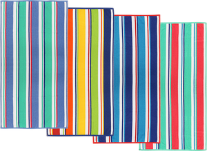 TERRY LOOP STRIPE W/COLOR BORDER