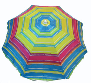 6' Premium Beach Umbrella with Anchor UPF 50+