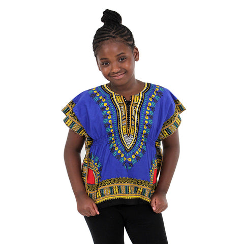 Traditional Print Elastic Child Dashiki