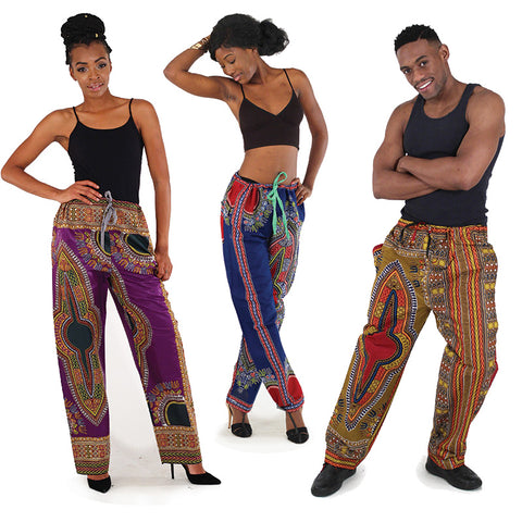 Traditional Print Draw-String Pants