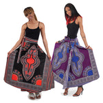Traditional Print Wrap Skirt