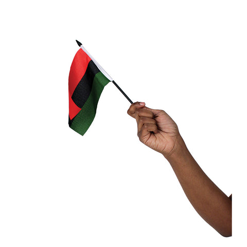 "4x6"" African American Stick Flag"