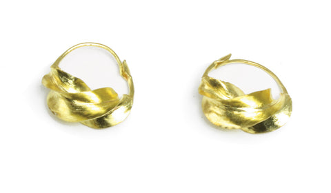 Small Fula Gold Twist Earrings - _""