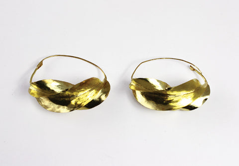 XL Over-Sized Fula Gold Earrings - 3""