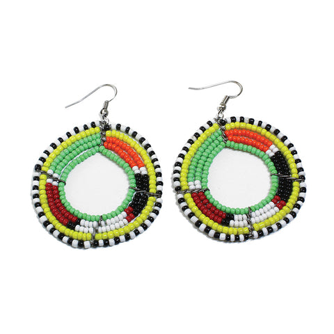 Round Maasai Hoop Earrings
