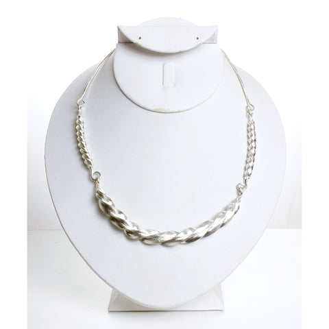 Fulani Silver Twist Necklace