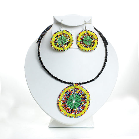 Traditional Maasai Choker & Earring Set