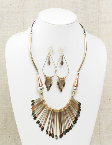 Royal Jewelry Set: Brass & Copper