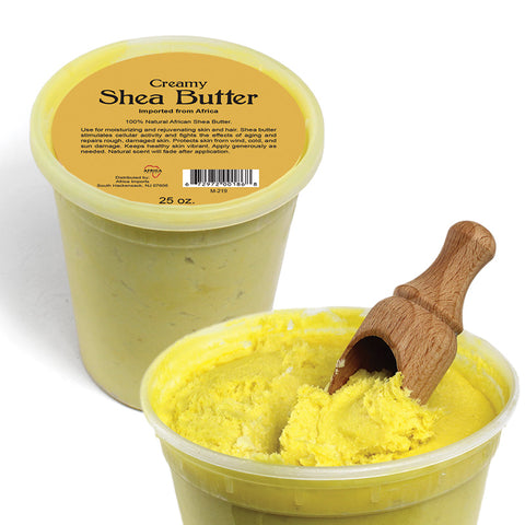 Creamy African Shea Butter: Yellow 25 oz