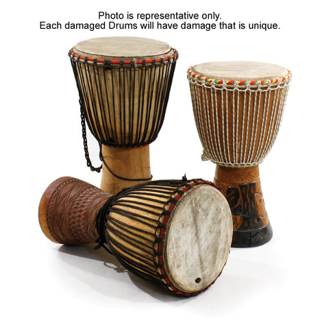 Damaged D'jembe Drums: Full Size