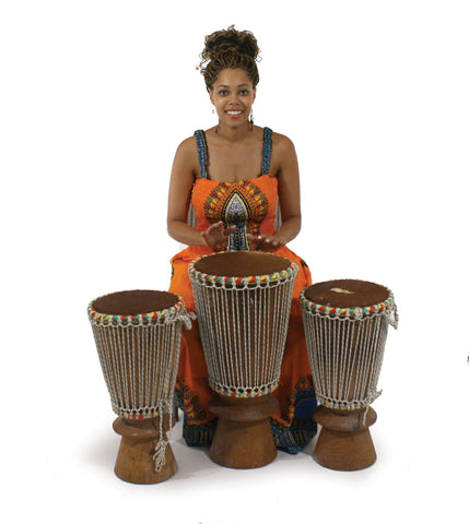 Set Of 3 Bougarabou Drums
