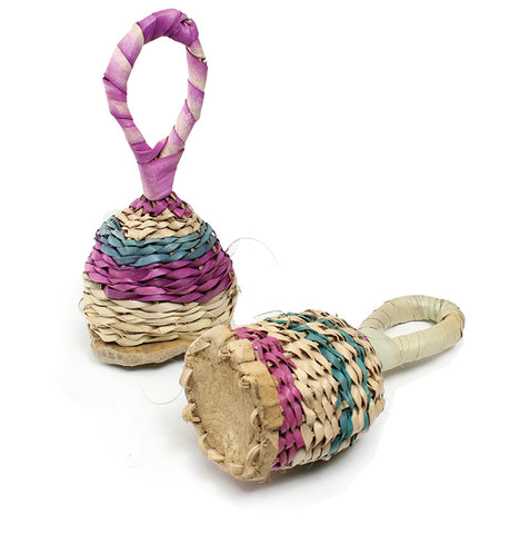 Straw Wicker Rattles - Bambara