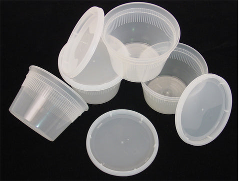 16 oz. Clear Containers w/Lids -12 pk.