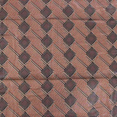 Brown & Black Pattern Fabric