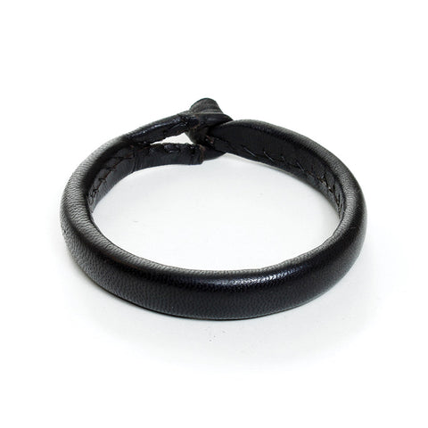 Solid Black Nigerian Leather Bracelets
