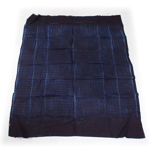 Indigo Brocade Fabric - ASSORTED