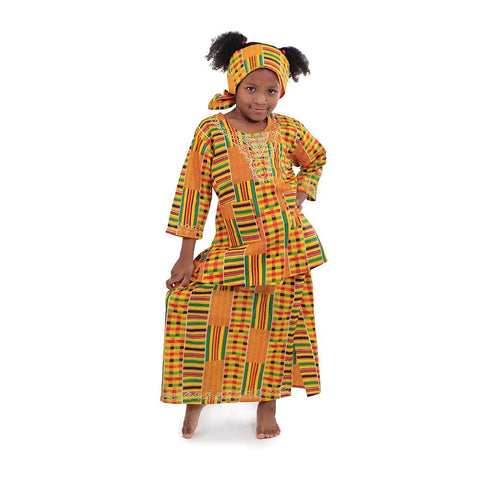 Children's Kente Skirt Set