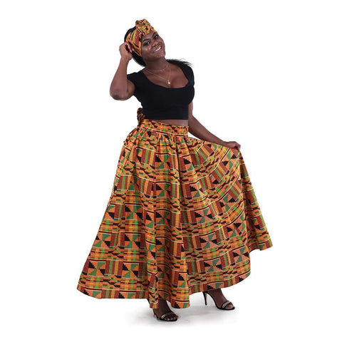 Kente Long Skirt #2
