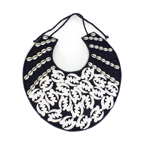 Gye Nyame Breastplate Necklace: White 1