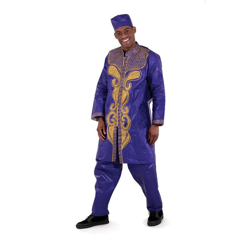 Brocade Zipper Dashiki & Pant Set