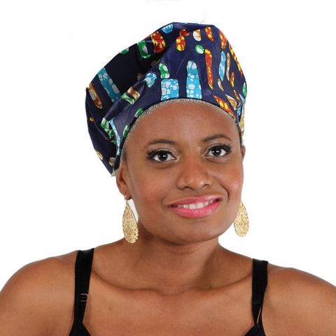 Nefertiti Crown: Blue Multi-Color