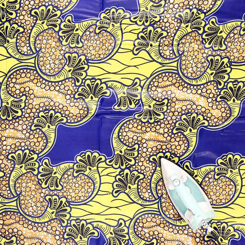 Economy Fabric: Yellow/Blue - 12 Yards