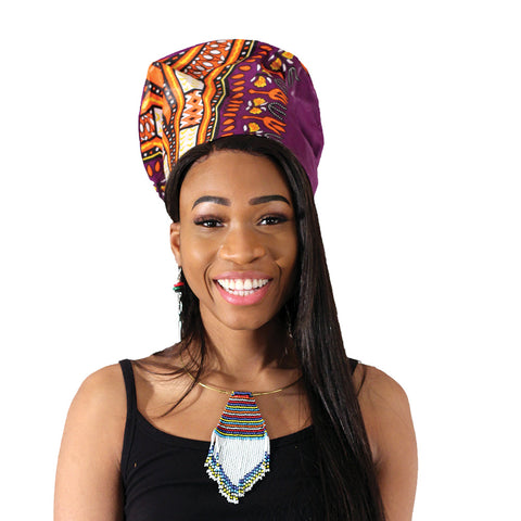 Nefertiti Crown: Purple Traditional