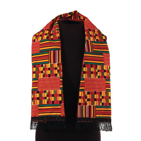 African-Made Kente Scarf/Table Runner #1