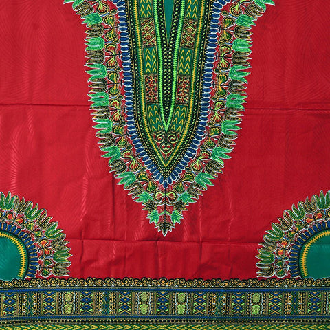 Traditional Print Brocade Fabric