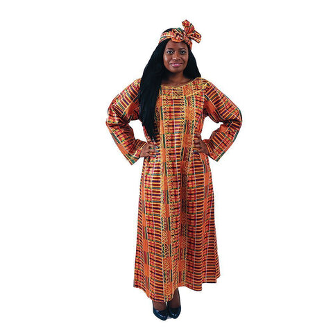 Embroidered Kente Kaftan
