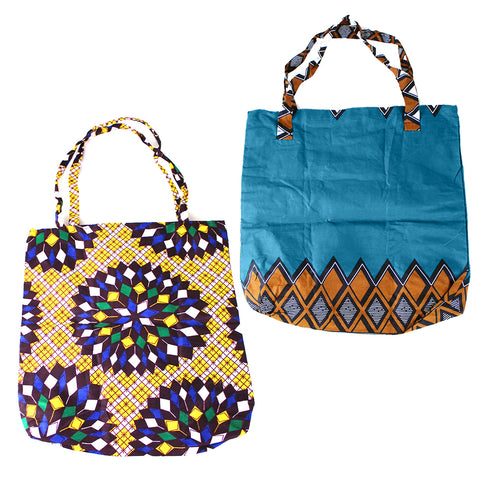 African Print Handbag - ASSORTED