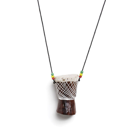 Djembe Drum Necklace: Small