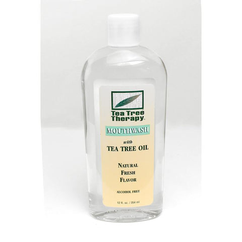 Natural Tea Tree Mouthwash - 12 oz.