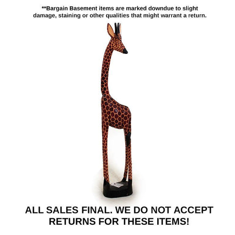DAMAGED Three Foot Giraffe